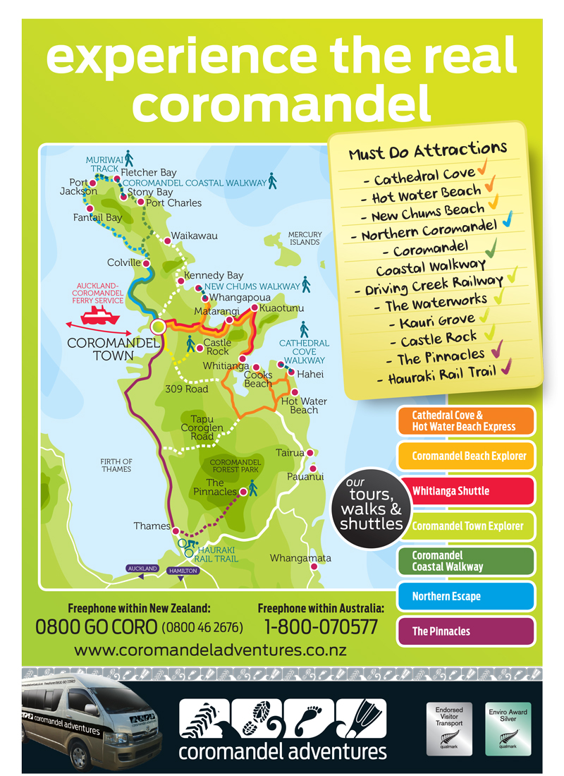 Download the Coromandel Adventures brochure PDF